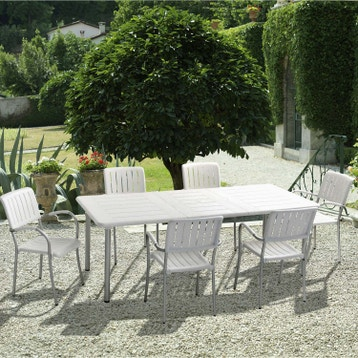 Awesome Salon De Jardin En Resine Et Alu Floris Blanc Galerie ...