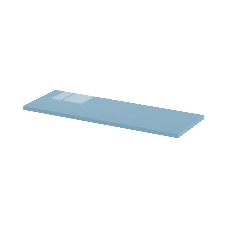 Meuble Salle De Bain Discac ~ Plan De Finition L45 X H1 X P14cm Bleu Fjord Sensea 3276006221863