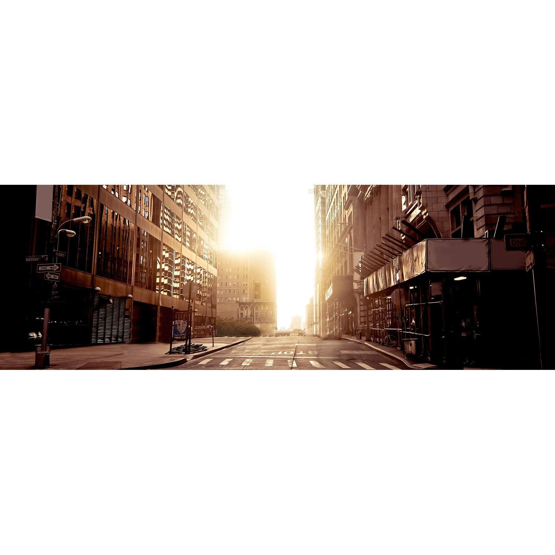 Verre imprimé STREET SUN, marron et orange ARTIS l.95.5 x H.30 cm