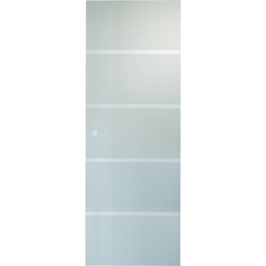 Porte coulissante verre tremp miami artens 204 x 83 cm for Porte en verre coulissante leroy merlin