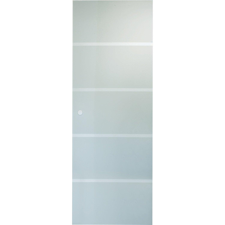 porte coulissante verre tremp miami artens 204 x 73 cm leroy merlin. Black Bedroom Furniture Sets. Home Design Ideas