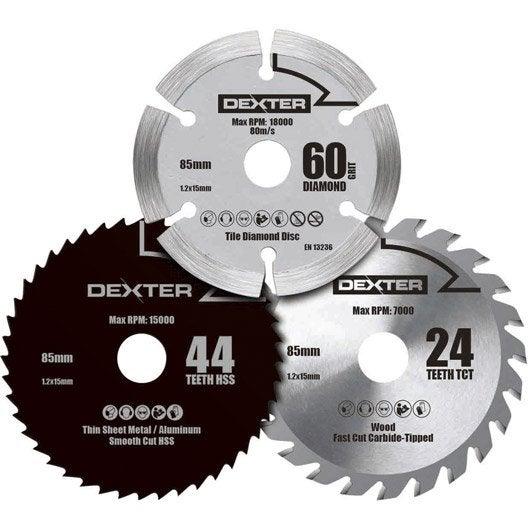 Lame coupe multiusage dexter power pour mini scie - Mini scie circulaire lidl ...