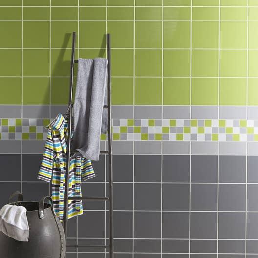 Faience Vert Bouteille : Faïence mur vert pistache astuce l cm leroy