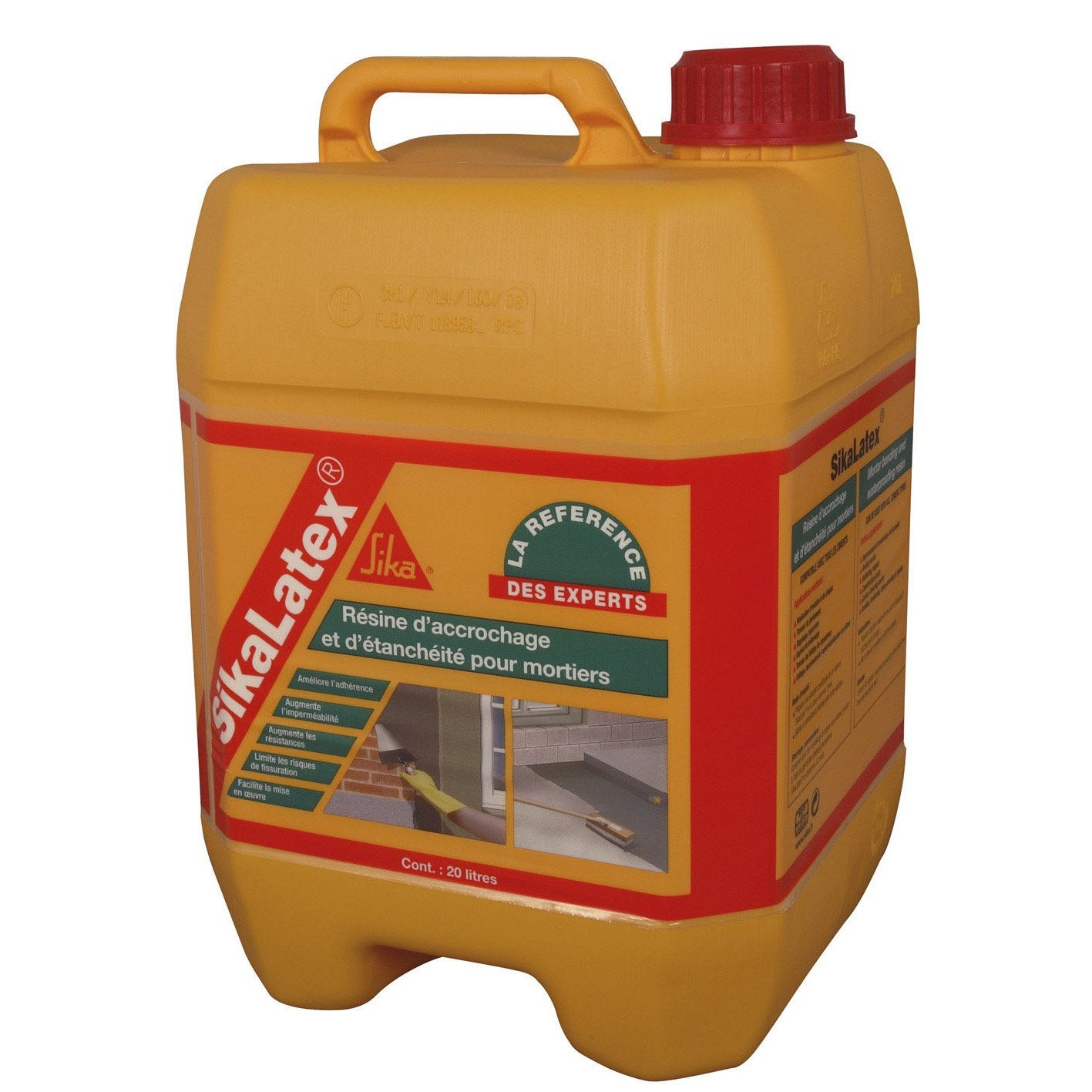 R Sine D Adh Rence Concentr E Pour Mortier Sika Sikalatex 20 L Blanc
