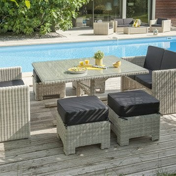 Salon de jardin table et chaise mobilier de jardin for Salon de jardin bois leroy merlin