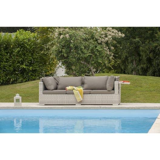 salon bas de jardin seychelles canape r sine tress e 3 personnes leroy merlin. Black Bedroom Furniture Sets. Home Design Ideas