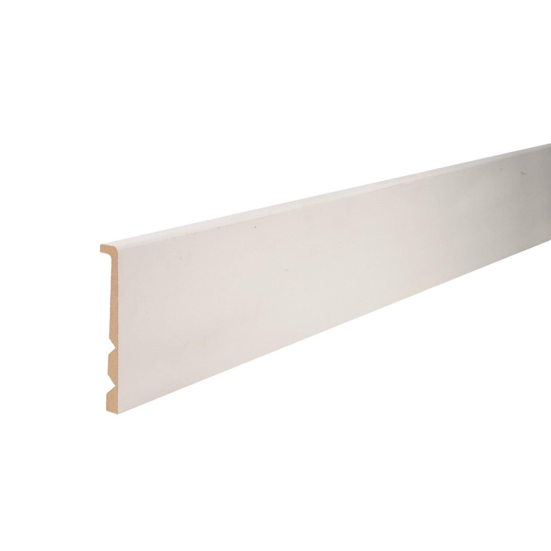 surplinthe de r novation m dium blanc 20 119 mm l leroy merlin. Black Bedroom Furniture Sets. Home Design Ideas