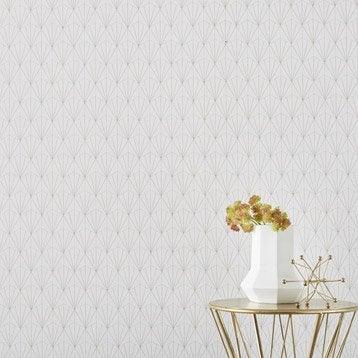 Papier peint intissé Geo d blanc/or