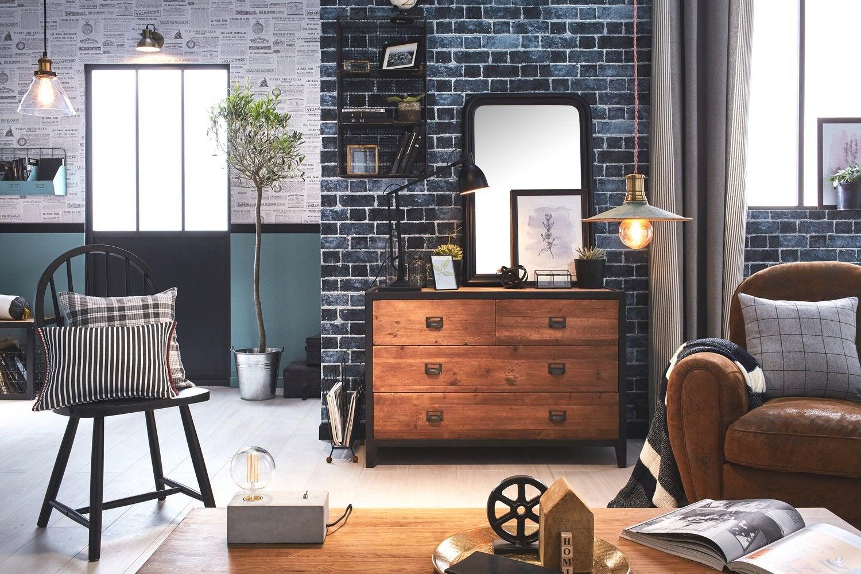 Adoptez le style industriel pour votre salon
