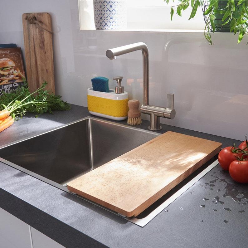 Une cuve inox avec une planche adapt e pour la cuisine for Planche inox cuisine