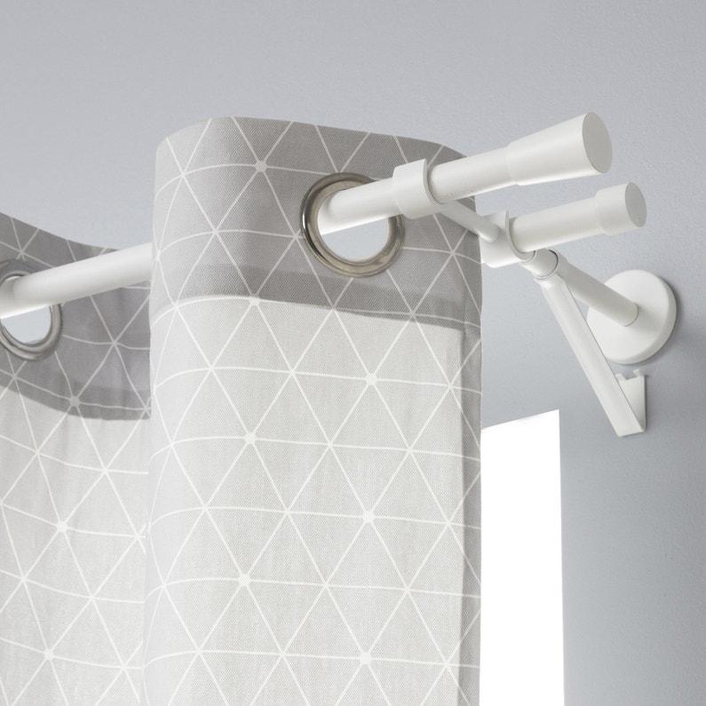top design great deals buy best Lot de 2 embouts INSPIRE, blanc mat, pour tringle à rideau Diam.20 mm