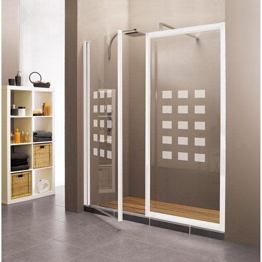 paroi lat rale associ e une porte hekla profil blanc cm leroy merlin. Black Bedroom Furniture Sets. Home Design Ideas