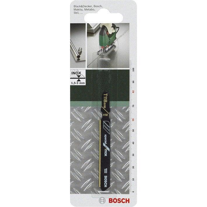 lame coupe fine et nette bosch t118ahm pour inox leroy merlin. Black Bedroom Furniture Sets. Home Design Ideas