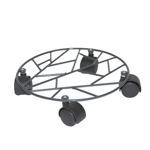 Support pot rond jany deco anthracite leroy merlin - Leroy merlin roulettes ...