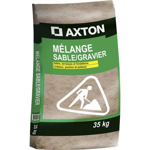 Dosage Beton Avec Melange Tout Pret se rapportant à mélange de sable et gravier sable 0/4 / gravillon 4/20 en sac 35 kg
