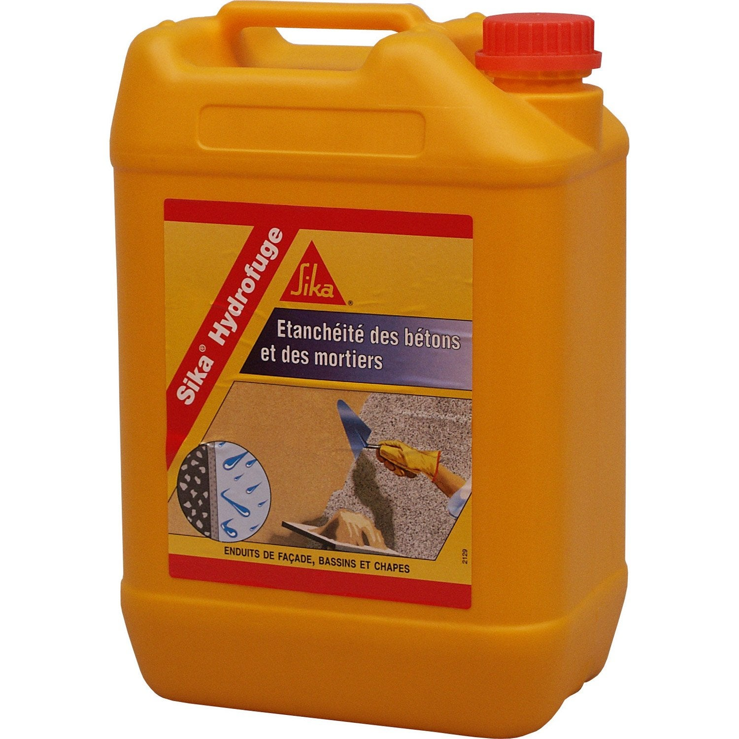 Hydrofuge Pour Mortier SIKA 5 L Blanc