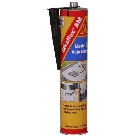 Mastic colle sika sikaflex am 300 ml noir leroy merlin for Mastic bois exterieur