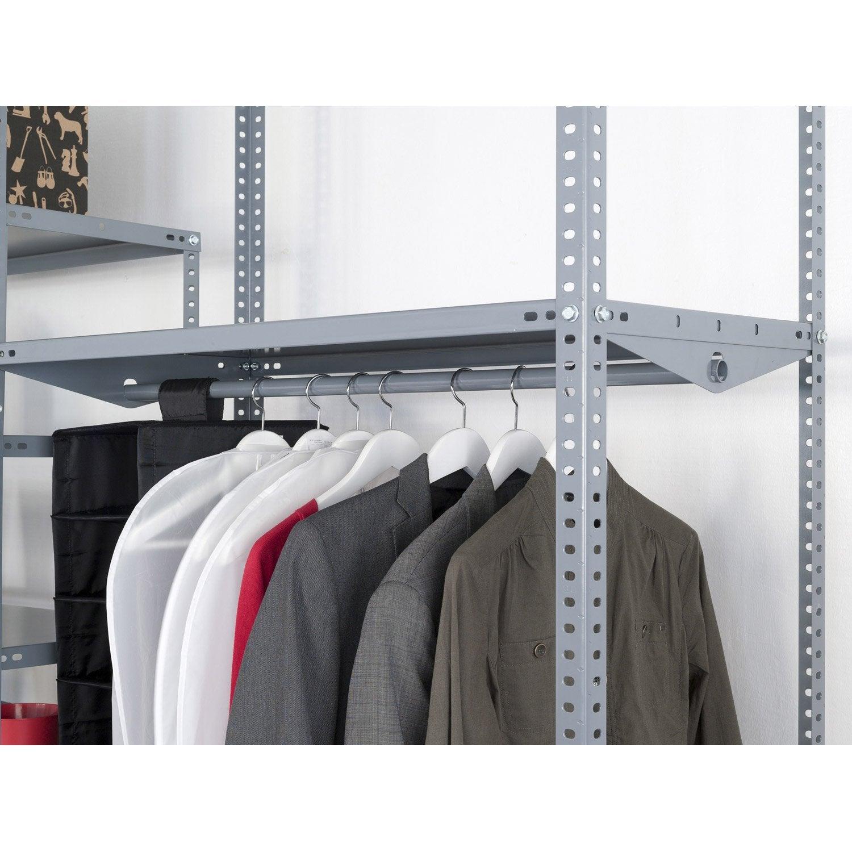 tringle de penderie pour versatile ar sistemas x h 2 5 x cm leroy merlin. Black Bedroom Furniture Sets. Home Design Ideas