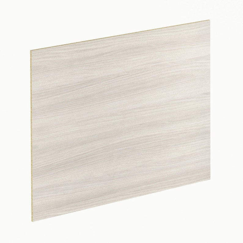 Crédence Stratifié Linea Blanc Gris H 64 Cm X Ep 9 Mm X L 300 Cm