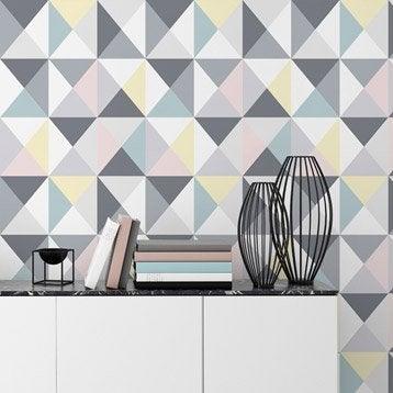 Papier peint papier Polygone multicouleur