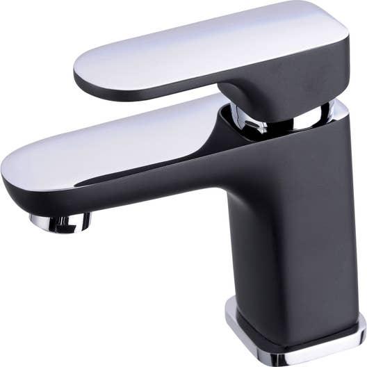 Mitigeur de lavabo noir mat Elliot   Leroy Merlin