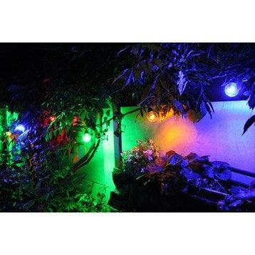 Guirlande extérieure LED intégrée 10 x 0.4 W = 210 Lm, multicolore