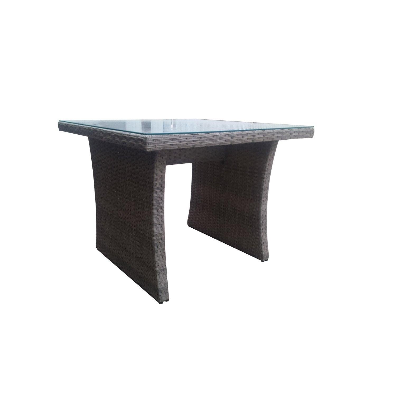 Table de jardin NATERIAL Daveport carrée gris 4 personnes | Leroy Merlin