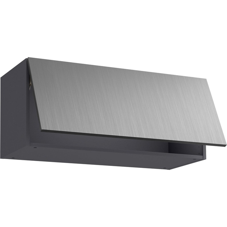 Meuble haut de cuisine Detroit effet inox, 1 porte H.39 l.90 cm x p.35 cm