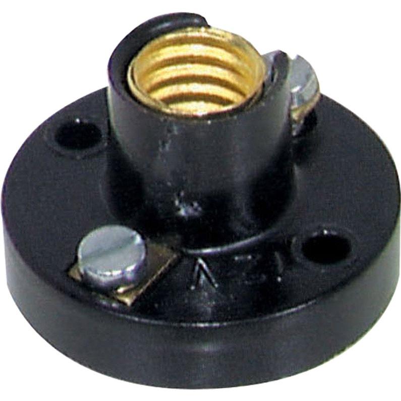 Douille Patère E10 Tibelec Plastique Noir 25 W