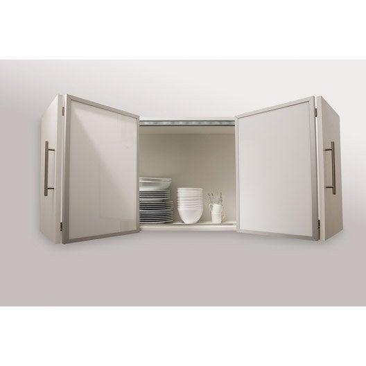 kit pour porte pliante spaceo home x 60 leroy merlin. Black Bedroom Furniture Sets. Home Design Ideas