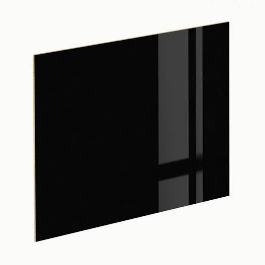 cr dence stratifi noir brillant effet alu cendr cm x cm leroy merlin. Black Bedroom Furniture Sets. Home Design Ideas