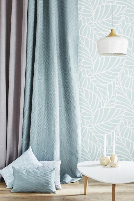 Du bleu pastel pour habiller les murs et les fenêtres