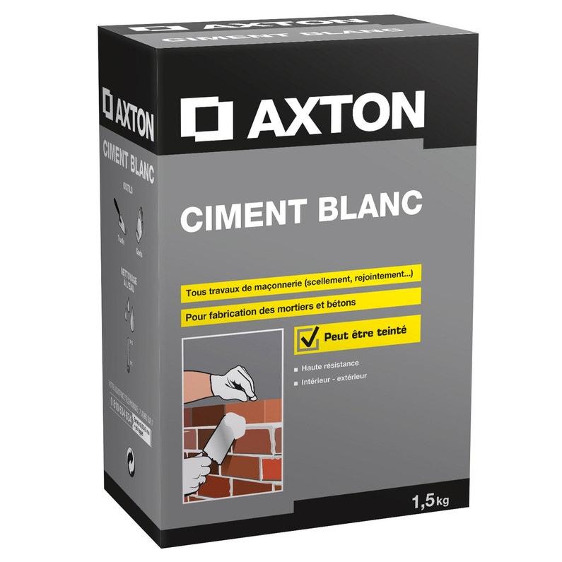Ciment Poudre Blanc Axton 1 5 Kg Leroy Merlin