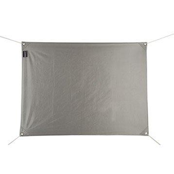 Voile d'ombrage rectangulaire gris alu L.195 x l.140 cm