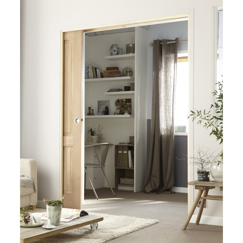 kit habillage pour porte coulissante galandage en bois. Black Bedroom Furniture Sets. Home Design Ideas