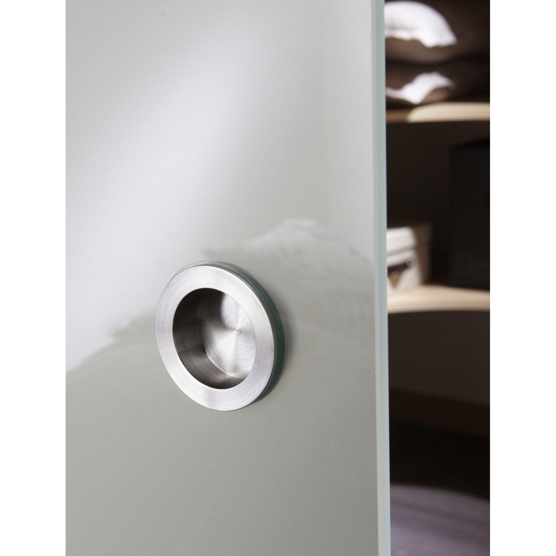 poign e pour porte coulissante en verre pr perc e 1 trou. Black Bedroom Furniture Sets. Home Design Ideas