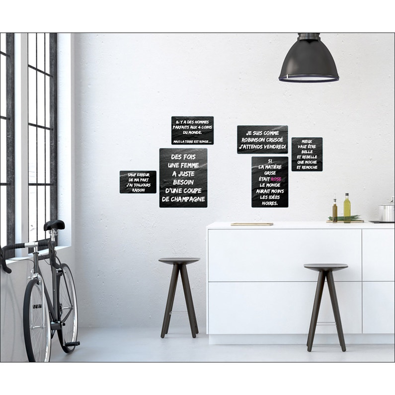 Sticker Sticker Deco 24x68cm Phrases C 24 Cm X 68 Cm