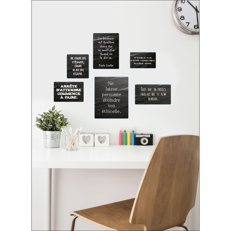 Sticker Sticker Deco 24x68cm Phrases A 24 Cm X 68 Cm