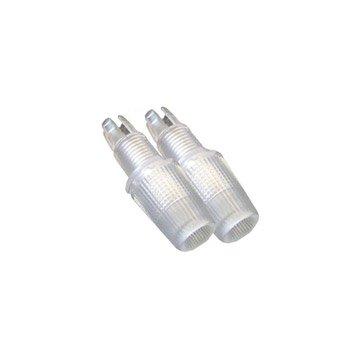 Lot de 2 serre câbles TIBELEC, plastique, blanc