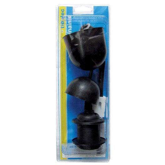 Monture plastique E27 TIBELEC, plastique, noir 60 W