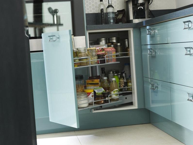 Rangement de cuisine crystal bleu leroy merlin for Tous les accessoires de cuisine
