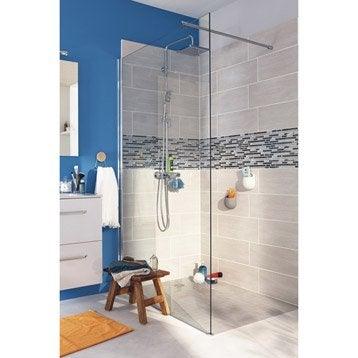 Paroi de douche à l'italienne, l.120 cm verre transparent 8 mm Open 2 8mm