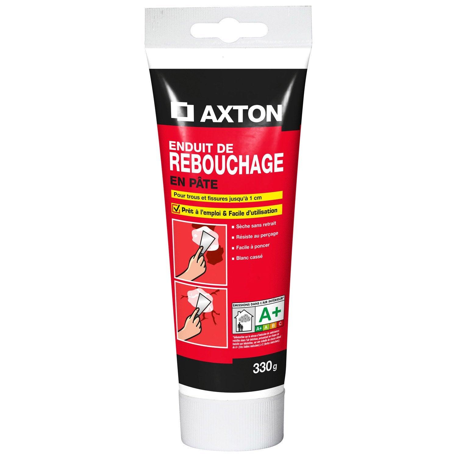 Enduit De Rebouchage Pâte Blanc AXTON, 0.33 Kg
