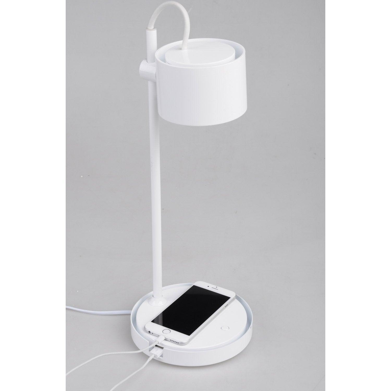 Poser Jasmine Intégrée Lampe BureauLed Blanc À De dQrxsthC
