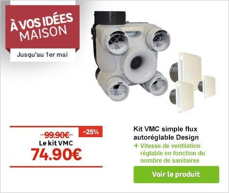 OP - Kit VMC simple flux autoréglable Design