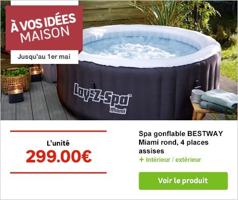 Op Festival Spa gonflable BESTWAY Miami rond 4 places assises-74545051