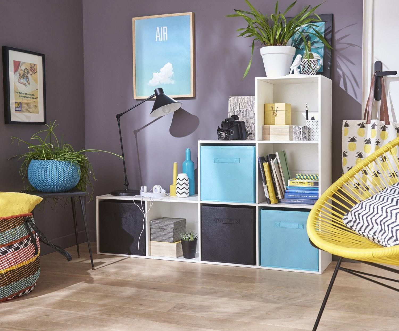 Des meubles de rangement dans le salon
