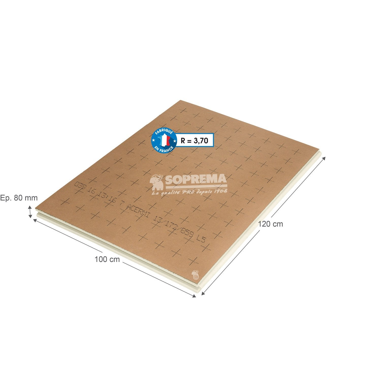 panneau de polyur thane ep 80mm lambda 22 r 3. Black Bedroom Furniture Sets. Home Design Ideas