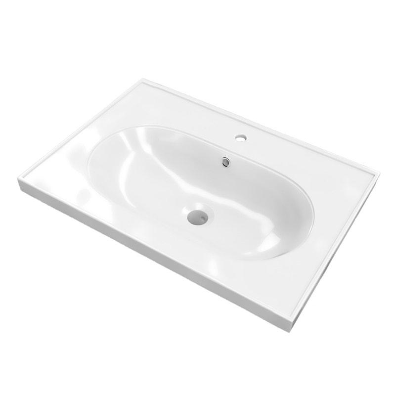 Plan Vasque Simple Charm Ceramique 60 5 Cm Leroy Merlin