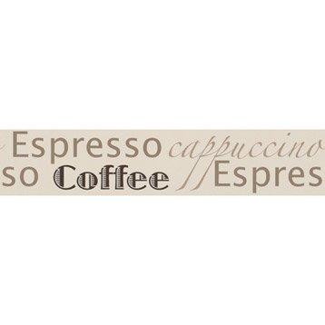 Frise vinyle adhésive Espresso L.5 m x l.13.2 cm